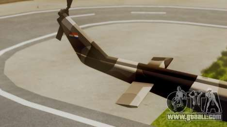 Bell UH-1 Paraguay for GTA San Andreas back left view