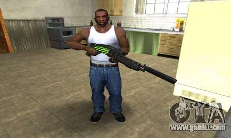 SPAS-12 Green Lines for GTA San Andreas third screenshot