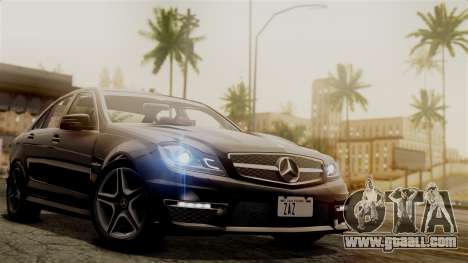 Mercedes-Benz C63 AMG 2015 Edition One for GTA San Andreas side view