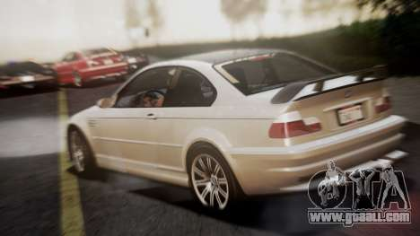 BMW M3 GTR Street Edition for GTA San Andreas left view