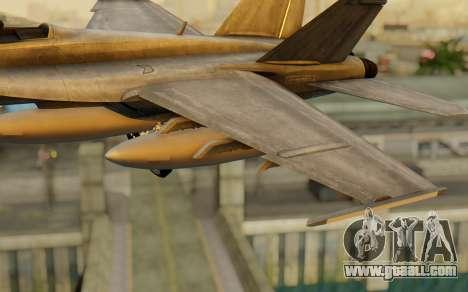 FA-18F Super Hornet BF4 for GTA San Andreas right view