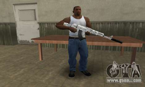 Camper AK-47 for GTA San Andreas third screenshot