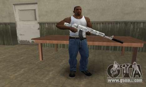 Camper AK-47 for GTA San Andreas third screenshot