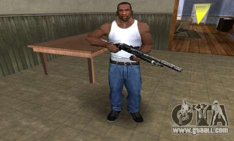 Black Flowers Shotgun for GTA San Andreas third screenshot