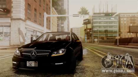 Mercedes-Benz C63 AMG 2015 Edition One for GTA San Andreas inner view