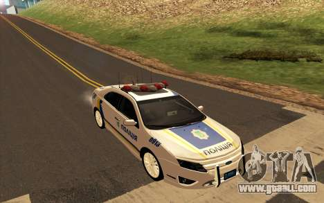 Ford Taurus Ukraine Police for GTA San Andreas back left view