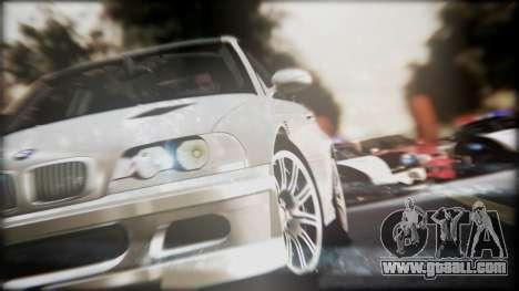 BMW M3 GTR Street Edition for GTA San Andreas