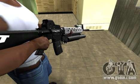 Modern Black M4 for GTA San Andreas