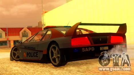 Police Turismo for GTA San Andreas left view