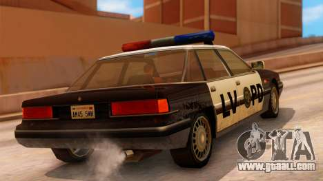 Police LV Intruder for GTA San Andreas left view
