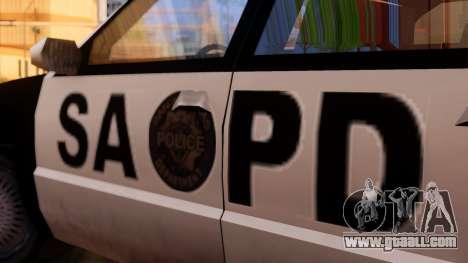 Police SA Premier for GTA San Andreas back left view