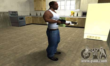 White with Black Shotgun for GTA San Andreas third screenshot