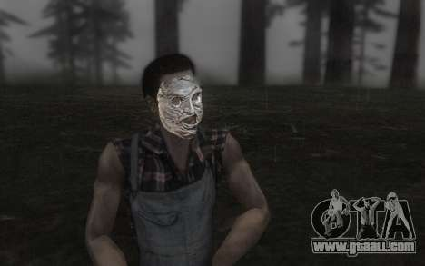 The Leather face mask for GTA San Andreas