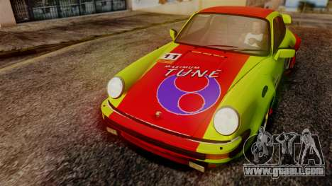 Porsche 911 Turbo (930) 1985 Kit A PJ for GTA San Andreas inner view