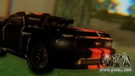 Shelby GT500 Death Race for GTA San Andreas back left view