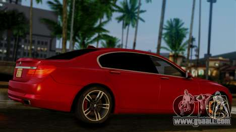 BMW 7 Series F02 2013 for GTA San Andreas back view