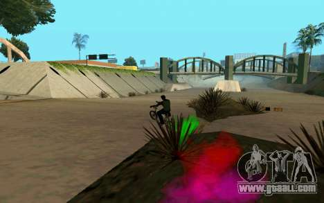 Bike Smoke for GTA San Andreas sixth screenshot