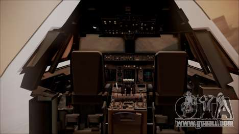 Boeing 747-200 Malaysia Airlines for GTA San Andreas inner view