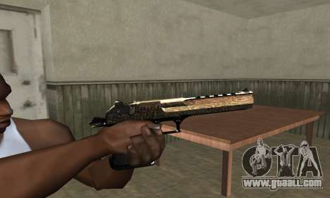 Brown Jungles Deagle for GTA San Andreas