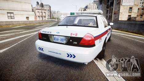 Ford Crown Victoria Bohan Police [ELS] for GTA 4 back left view