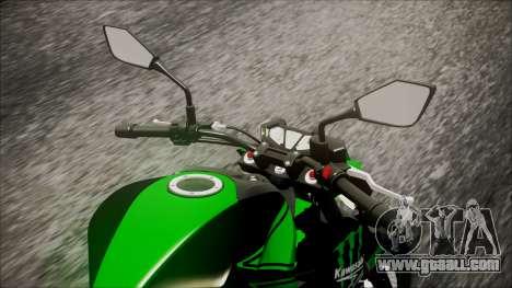 Kawasaki Z800 Monster Energy for GTA San Andreas back view