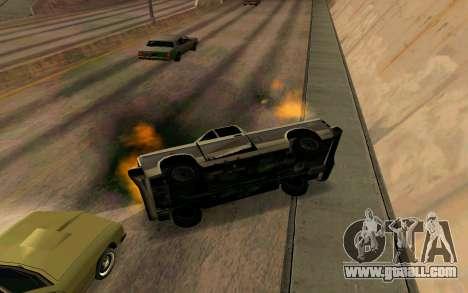 Burning car mod from GTA 4 for GTA San Andreas fifth screenshot