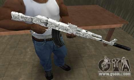 Camper AK-47 for GTA San Andreas