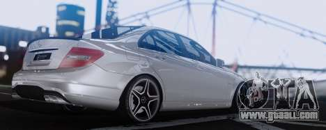 Mercedes-Benz C63 AMG 2013 for GTA San Andreas right view