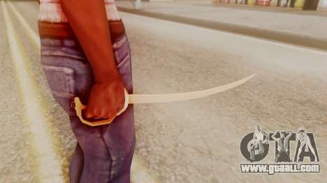 Red Dead Redemption Katana Crome Sword for GTA San Andreas