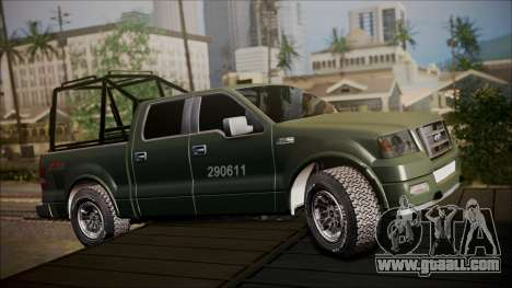 Ford F-150 Military MEX for GTA San Andreas left view