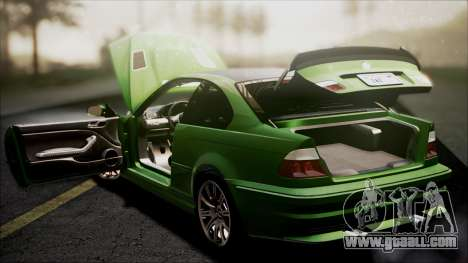 BMW M3 GTR Street Edition for GTA San Andreas wheels