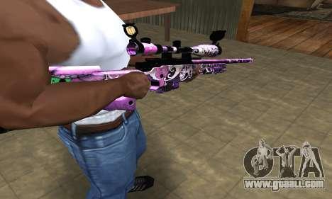 Neon Sniper Rifle for GTA San Andreas