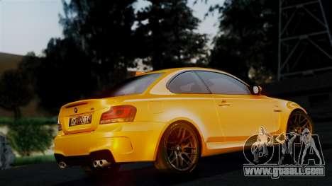 BMW 1M E82 v2 for GTA San Andreas upper view