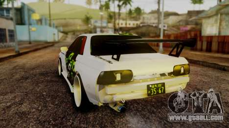 Nissan Skyline R32 Speedhunters for GTA San Andreas back left view