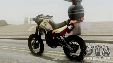 Yamaha DT 180 BM-RS for GTA San Andreas left view
