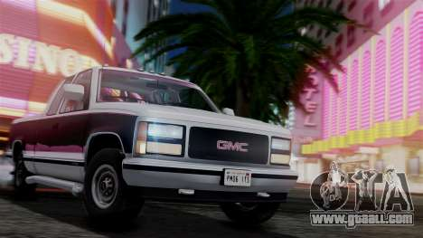 GMC Sierra 2500 Extended Cab 1992 for GTA San Andreas side view