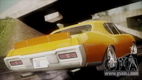 Pontiac GTO 1968 for GTA San Andreas left view