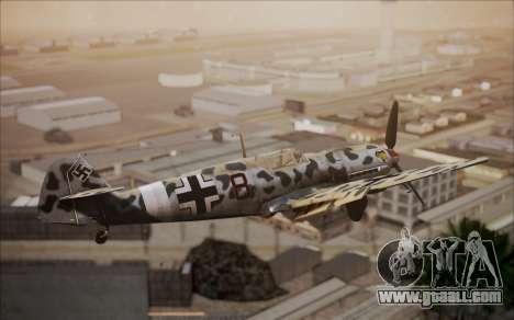 Messerschmitt BF-109 E3 for GTA San Andreas back left view