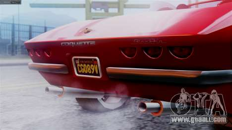 GTA 5 Invetero Coquette BlackFin IVF for GTA San Andreas back left view