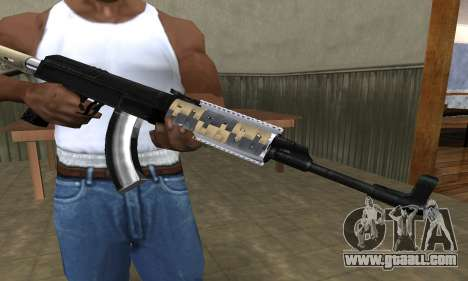 Cool Black AK-47 for GTA San Andreas