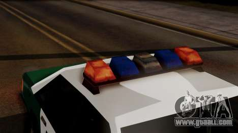 VCPD Cruiser for GTA San Andreas back view