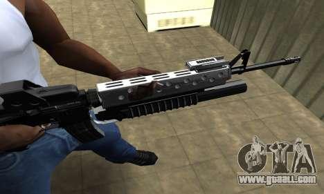 Modern Black M4 for GTA San Andreas second screenshot