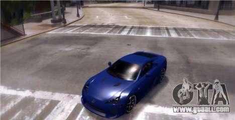 Lexus LF-A 2010 [EPM] for GTA 4 back left view