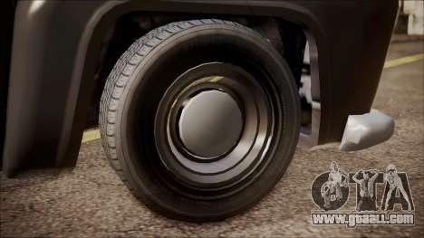 GTA 5 Vapid Slamvan Pickup for GTA San Andreas back left view