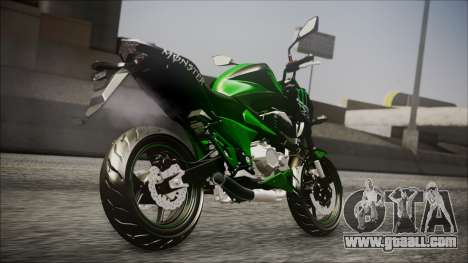 Kawasaki Z800 Monster Energy for GTA San Andreas left view