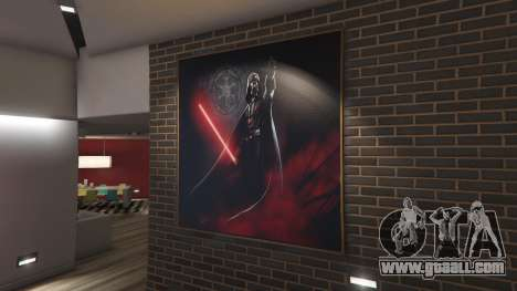 Star Wars Posters for Franklins House 0.5 for GTA 5