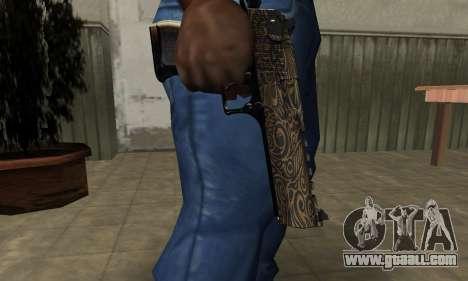 Brown Jungles Deagle for GTA San Andreas second screenshot