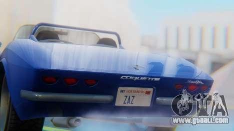 Invetero Coquette BlackFin Convertible for GTA San Andreas back view