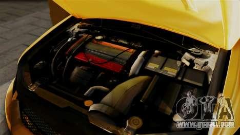 Mitsubishi Lancer Evolution 2015 for GTA San Andreas back view