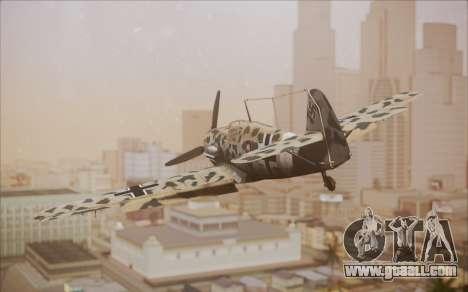 Messerschmitt BF-109 E3 for GTA San Andreas left view